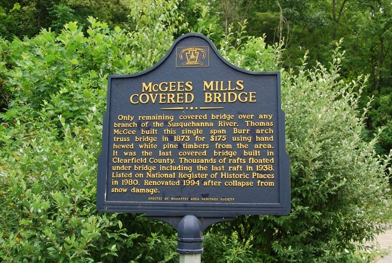 McGee's Mills Covered Bridge Marker image. Click for full size.