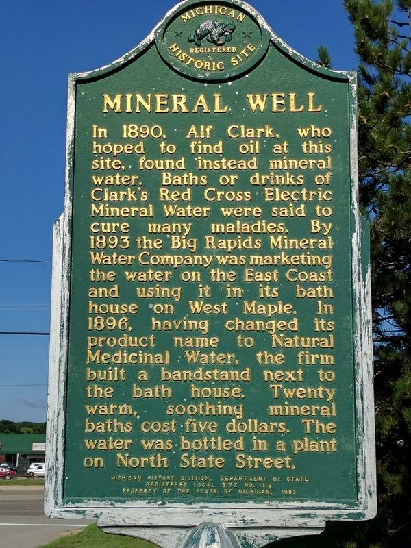 Mineral Well Marker (Side 1) image. Click for full size.