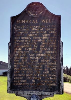 Mineral Well Marker (Side 2) image. Click for full size.