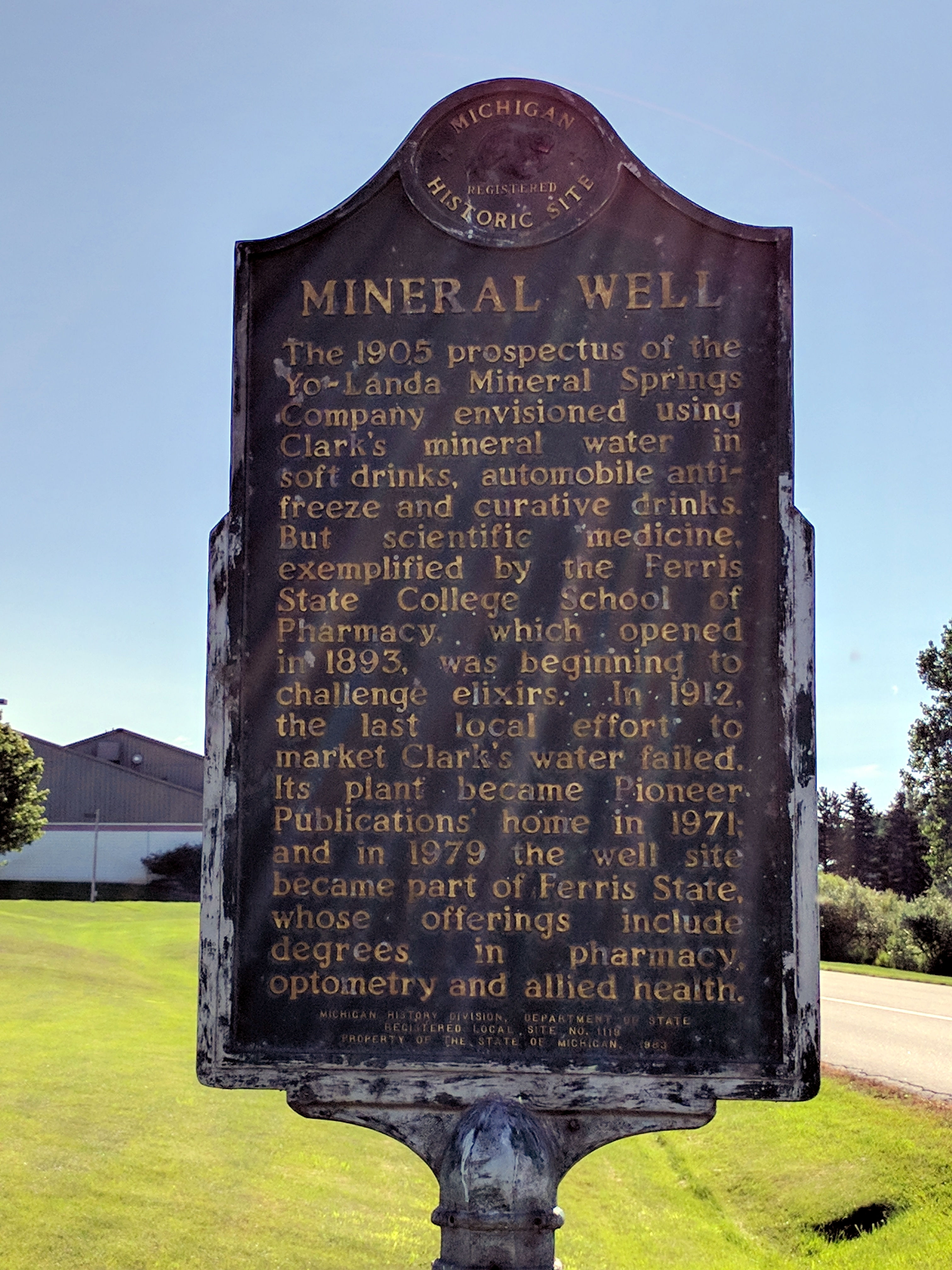 Mineral Well Marker (Side 2)