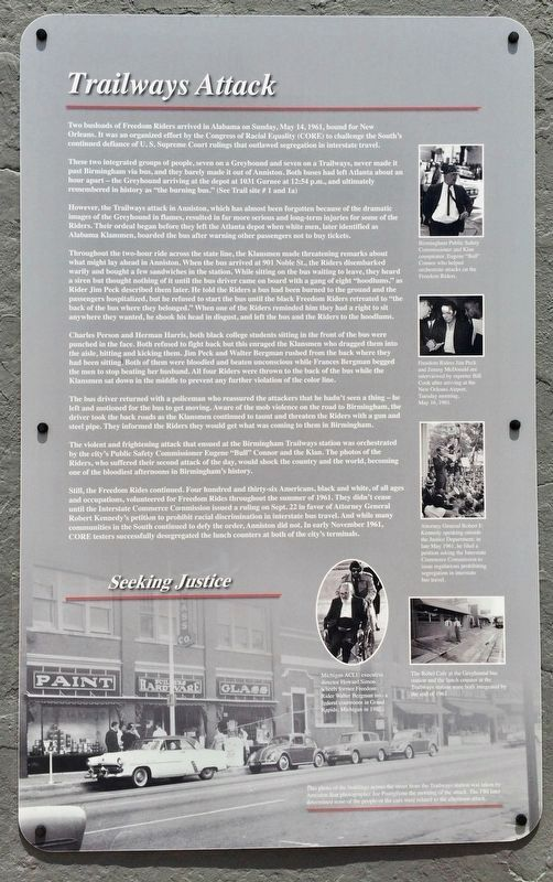 Trailways Attack Marker (1st panel) image. Click for full size.
