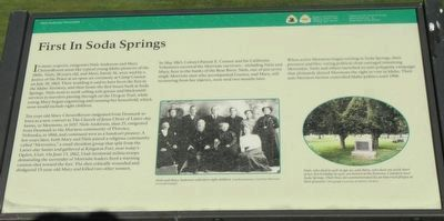 First In Soda Springs Marker image. Click for full size.