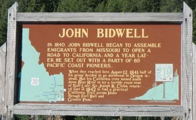 John Bidwell Marker image. Click for full size.
