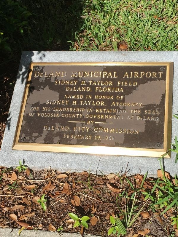 DeLand Municipal Airport Marker image. Click for full size.
