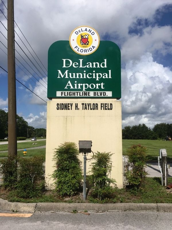 DeLand Municipal Airport Entrance image. Click for full size.