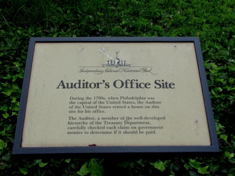 Auditor's Office Site Marker image. Click for full size.