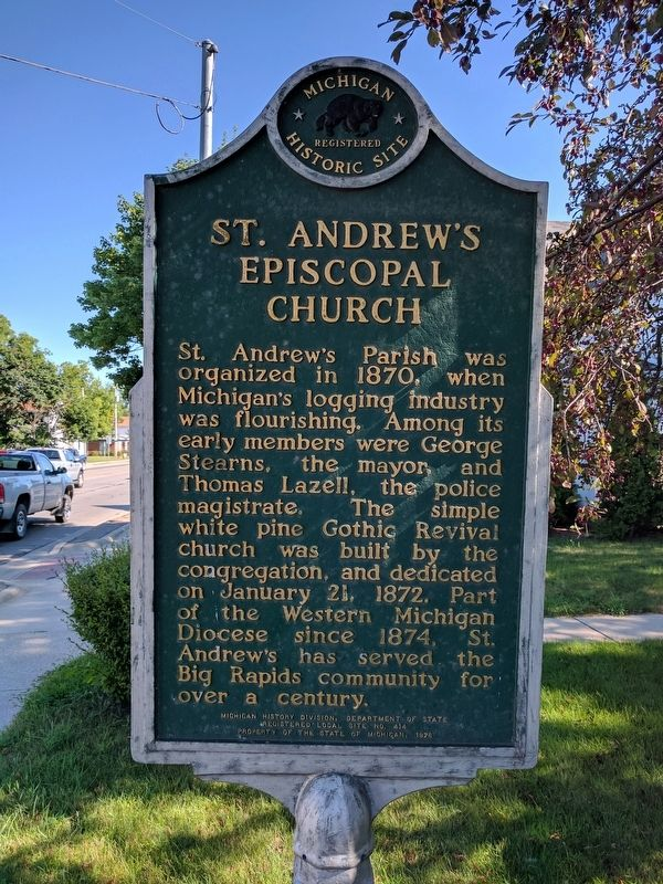 St. Andrew's Episcopal Church Marker image. Click for full size.