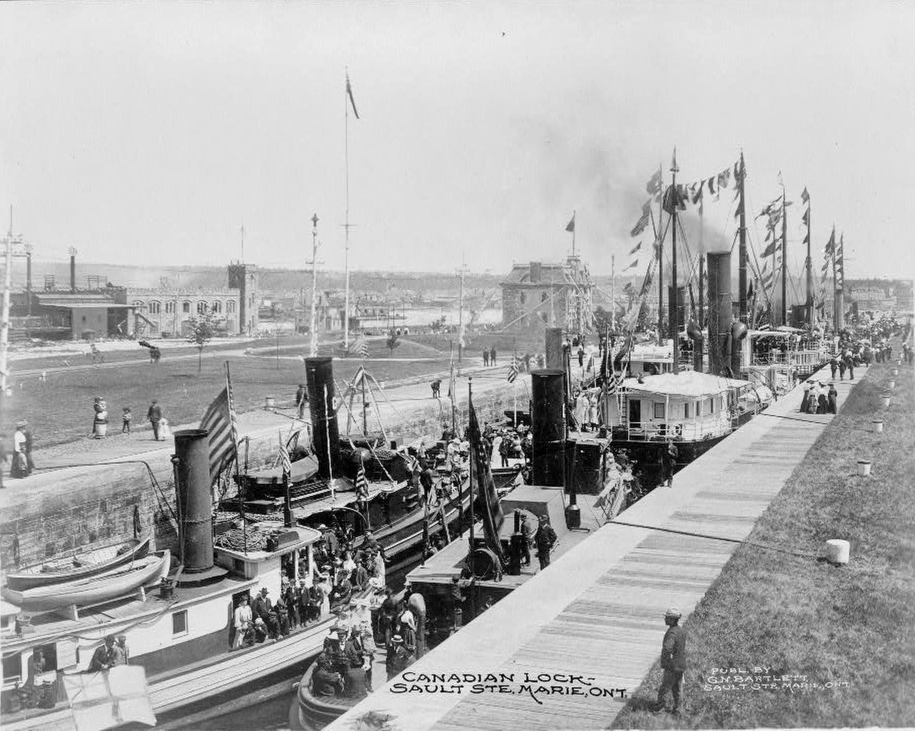 <i>Canadian lock - Sault Ste. Marie, Ont.</i> image. Click for full size.