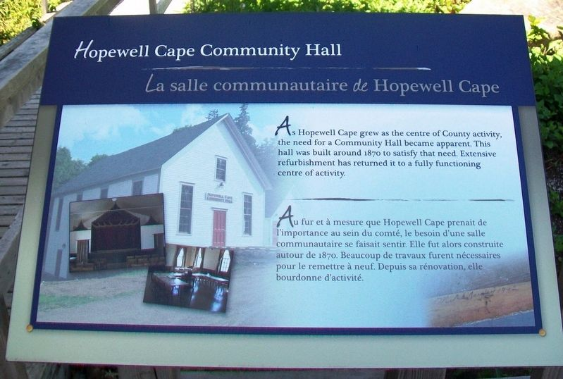 Hopewell Cape Community Hall Marker image. Click for full size.