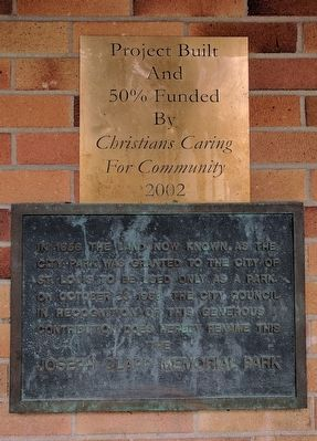 Joseph Clapp Memorial Park Marker image. Click for full size.