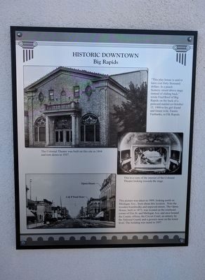 Historic Downtown Big Rapids Marker image. Click for full size.