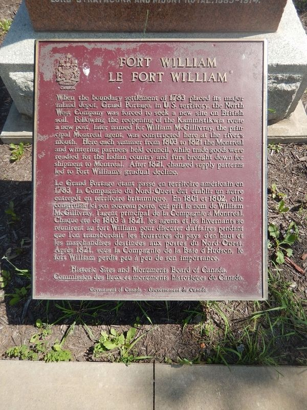 Fort William Marker image. Click for full size.