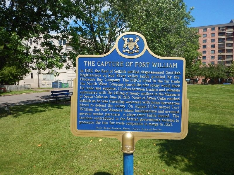 The Capture of Fort William Marker image. Click for full size.