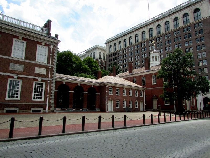 West Wing of Independence Hall (North View) image. Click for full size.