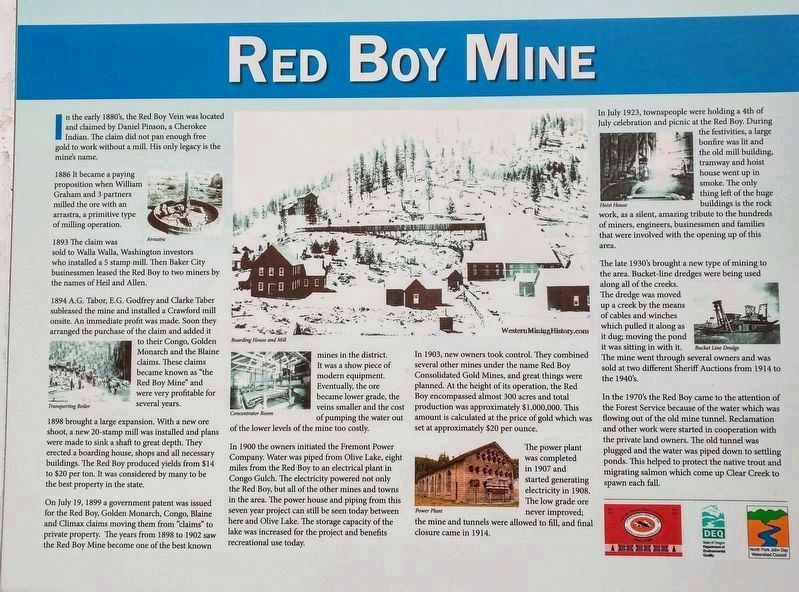 Red Boy Mine Marker image. Click for full size.