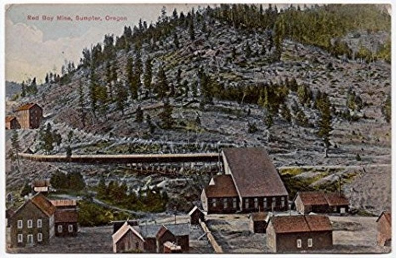 Historic postcard of Red Boy Mine image. Click for full size.