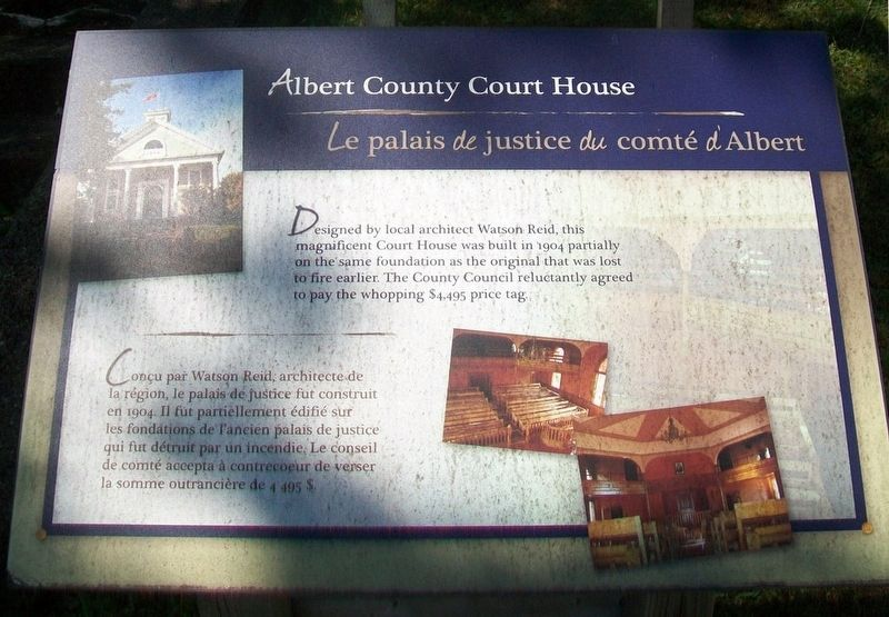 Albert County Court House Marker image. Click for full size.