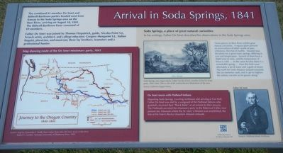 Arrival in Soda Springs, 1841 image. Click for full size.