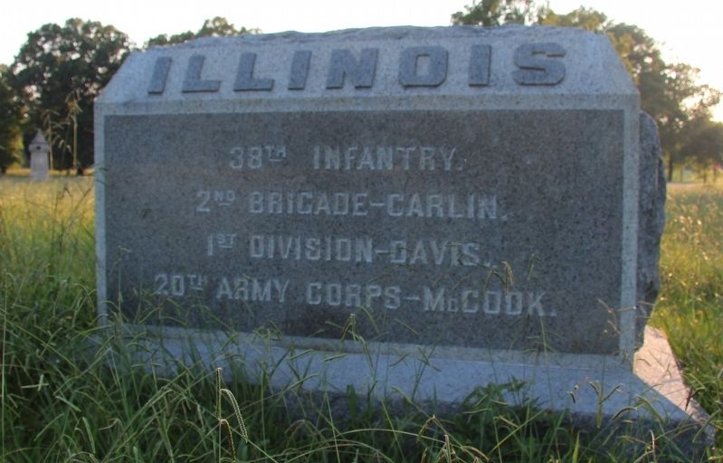 38th Illinois Infantry Marker image. Click for full size.