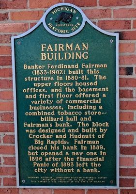 Fairman Bulding Marker image. Click for full size.