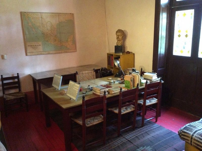 Leon Trotsky's study where he was assassinated image. Click for full size.
