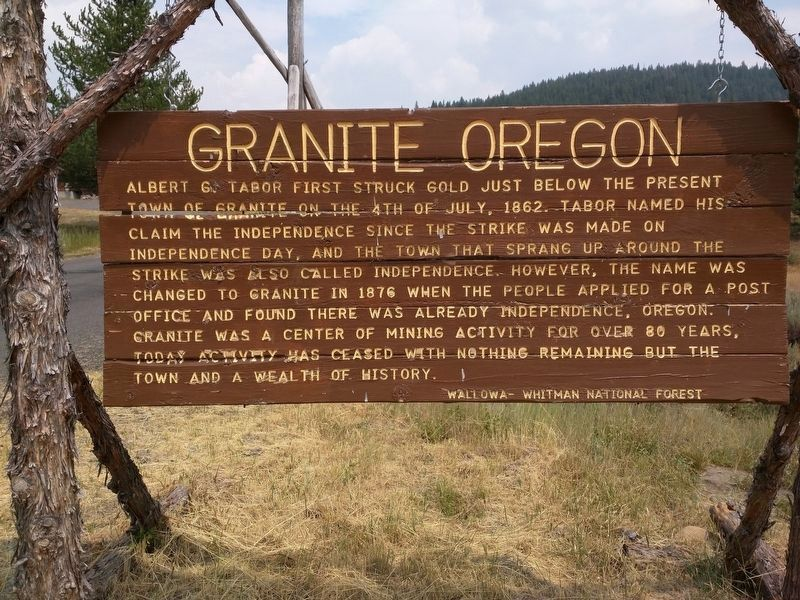 Granite, Oregon Marker - Side A image. Click for full size.