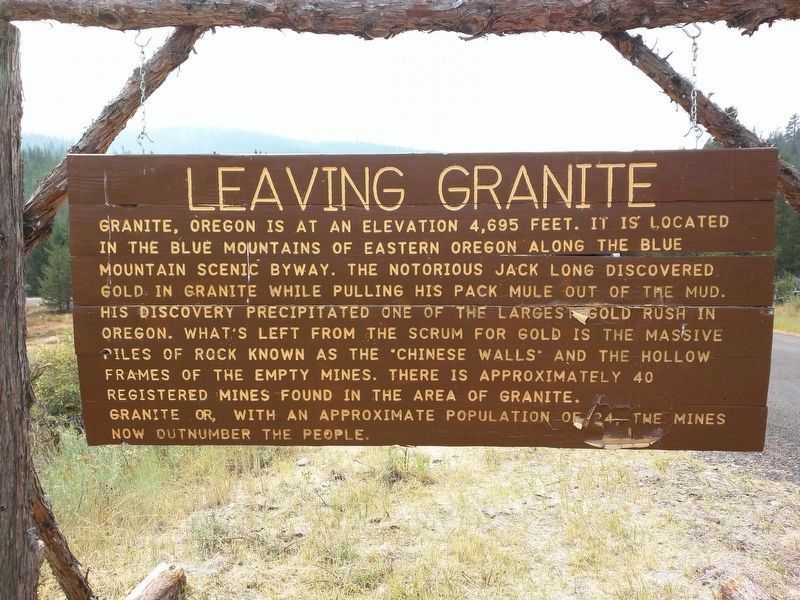 Leaving Granite - Side B image. Click for full size.