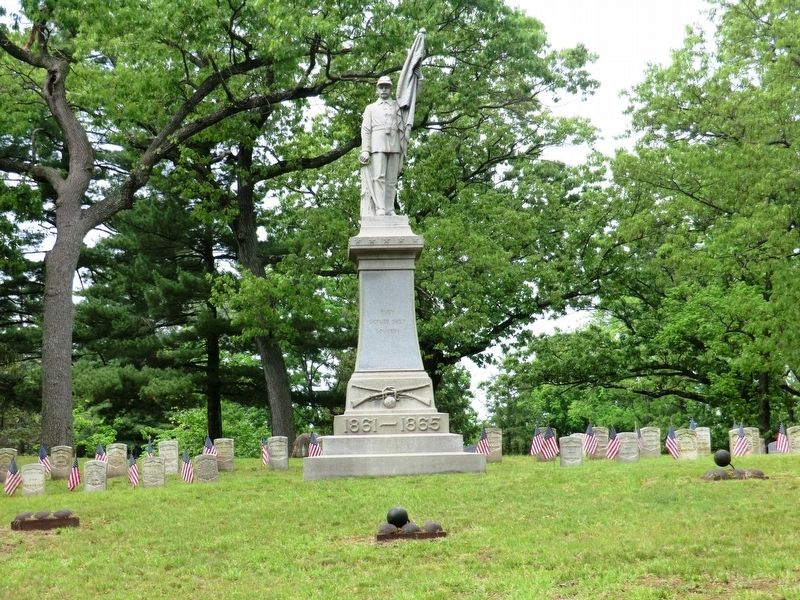 Civil War Soldier's Monument Marker image. Click for full size.