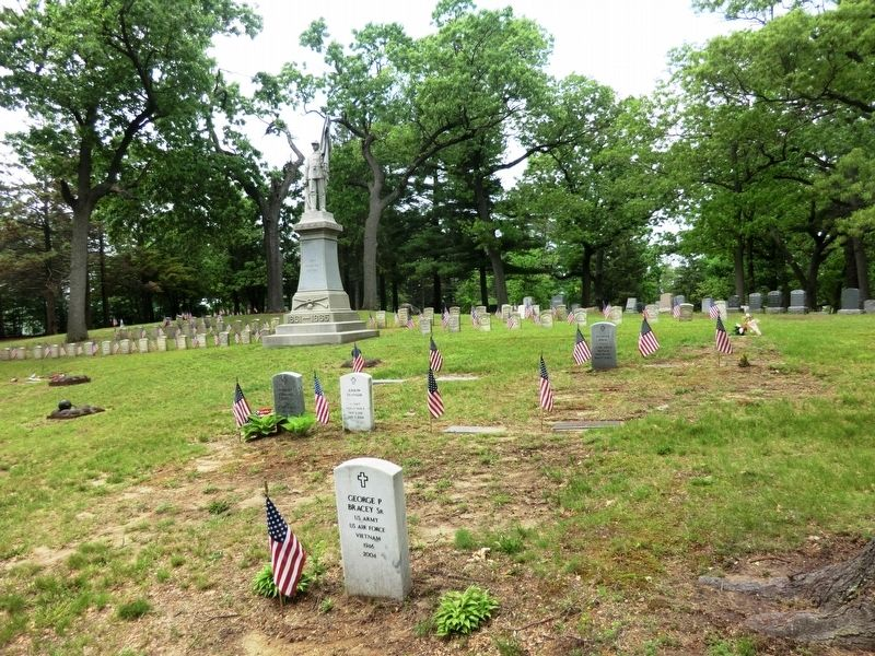 Civil War Soldier's Monument-distant shot image. Click for full size.