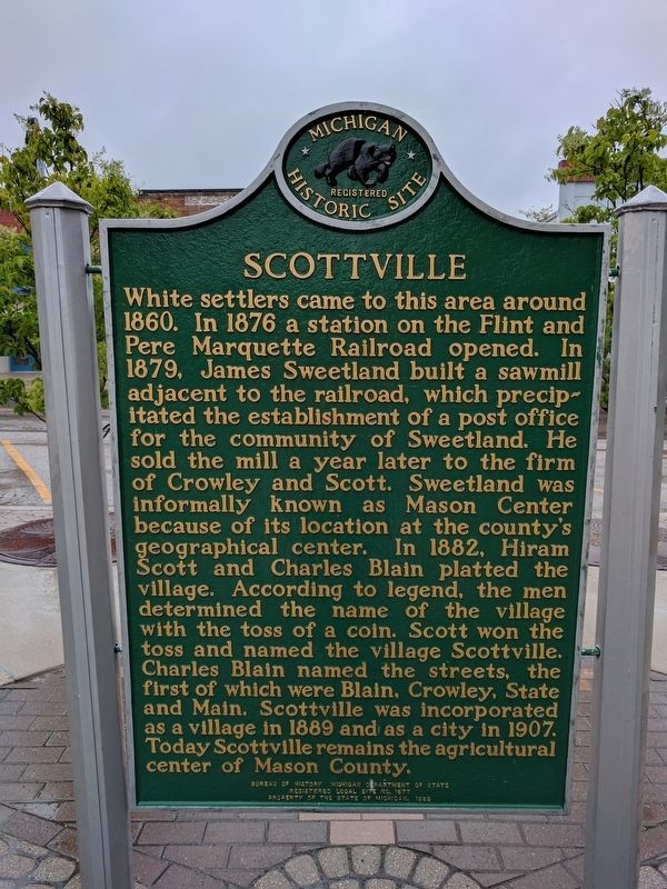 Scottville Marker image. Click for full size.