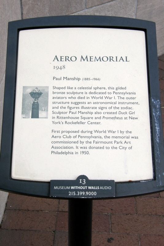 Aero Memorial Marker image. Click for full size.