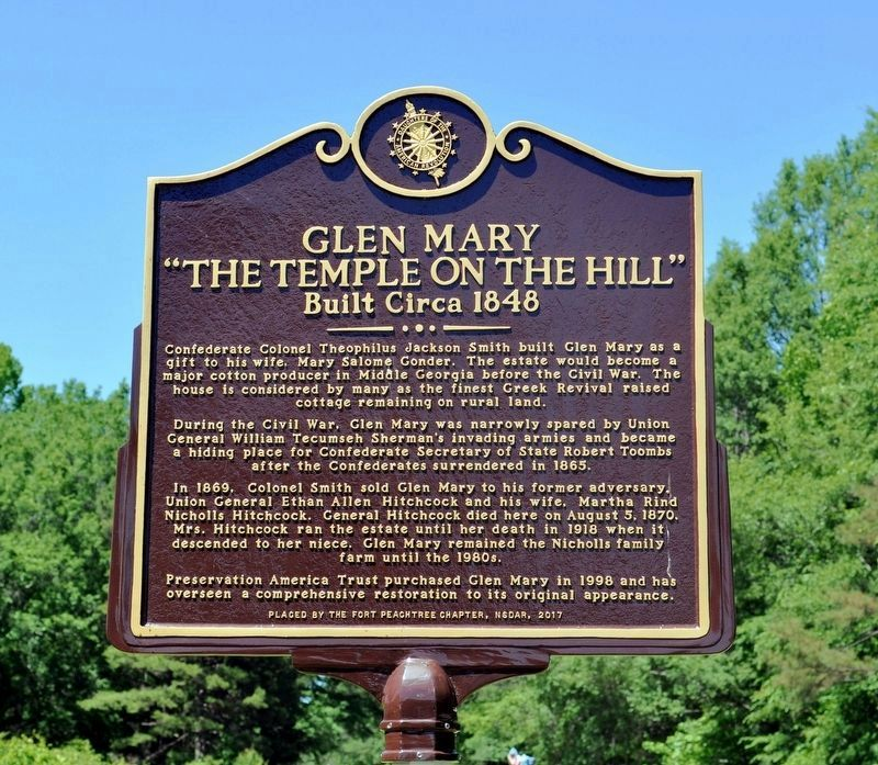 "Glen Mary ""The Temple on the Hill"" Marker image. Click for full size."