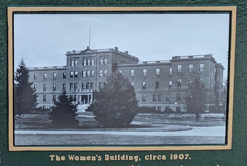 Women's Building Marker - Left Panel Image image. Click for full size.