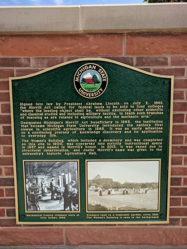 The Nation's Pioneer Land-Grant University Marker - Right Panel image. Click for full size.