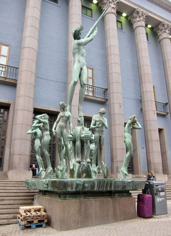 Carl Milles' Orfeus - Found on the West Side of the Konserthuset image. Click for full size.