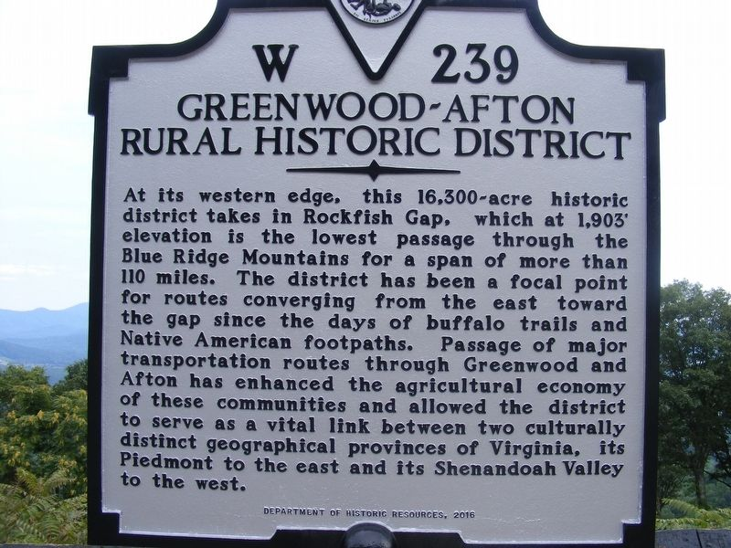 Greenwood-Afton Rural Historic District Marker image. Click for full size.