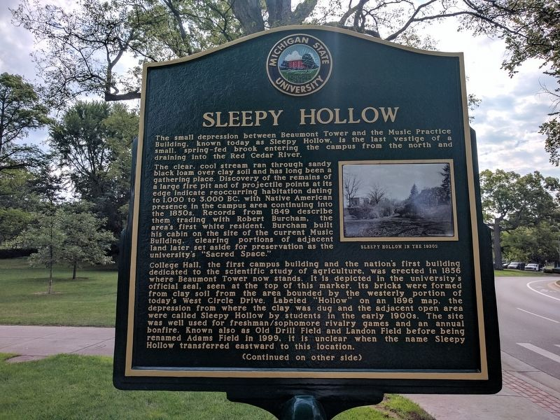 Sleepy Hollow Marker - Side 1 image. Click for full size.