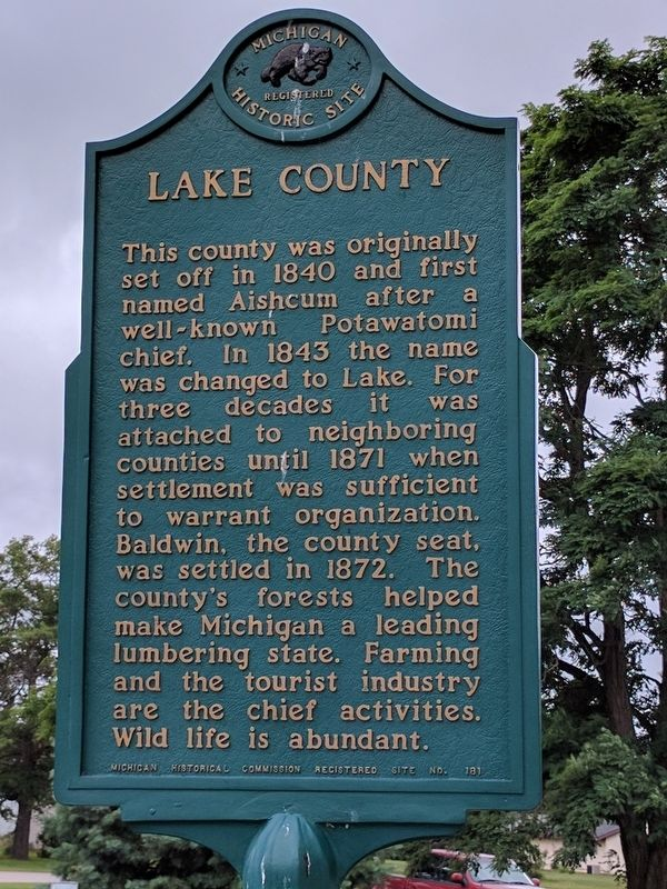 Lake County Marker image. Click for full size.