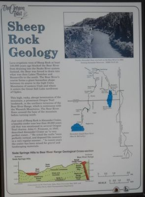 Sheep Rock Geology Marker image. Click for full size.