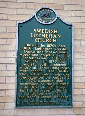 Swedish Lutheran Church Marker image. Click for full size.