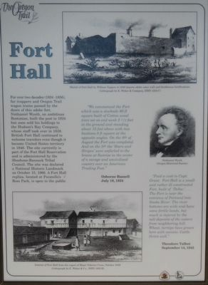 Fort Hall Marker image. Click for full size.
