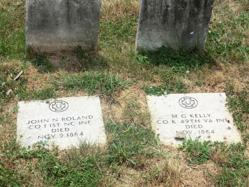 Confederate Soldiers grave markers image. Click for full size.