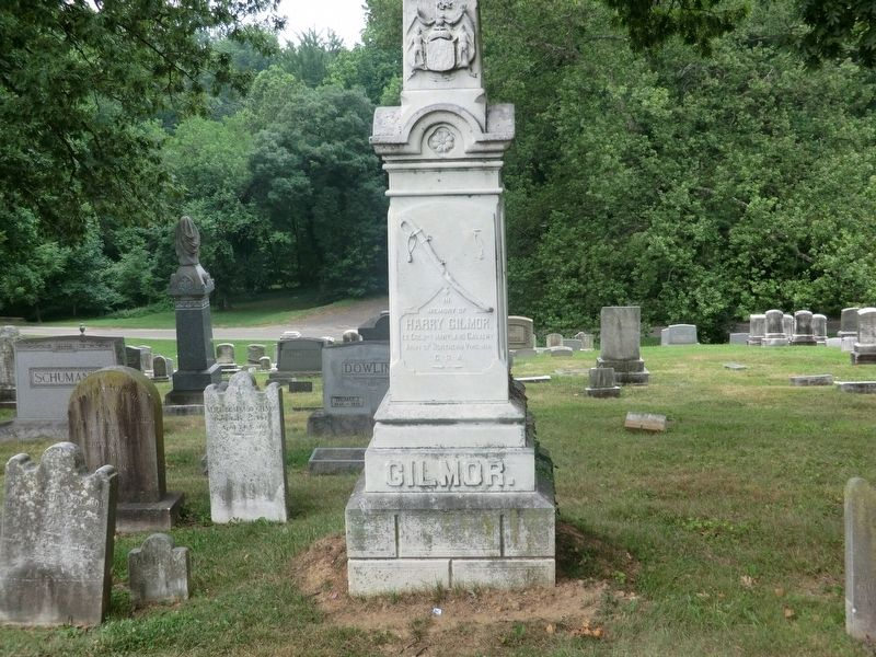 Harry Gilmor Monument Marker-Front panel image. Click for full size.