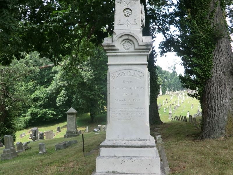 Harry Gilmor Monument Marker-Back panel image. Click for full size.