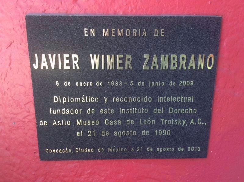 An additional marker to Javier Wimer Zambrano image. Click for full size.