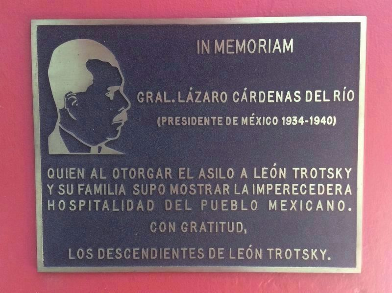 An additional marker to President Lázaro Cárdenas image. Click for full size.
