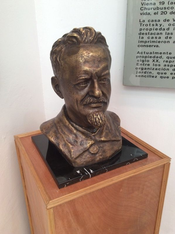 A Leon Trotsky bust at the House and Museum image. Click for full size.