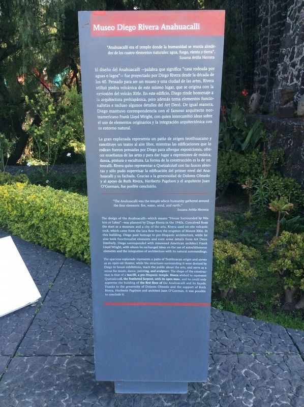 The Diego Rivera Anahuacalli Museum Marker image. Click for full size.