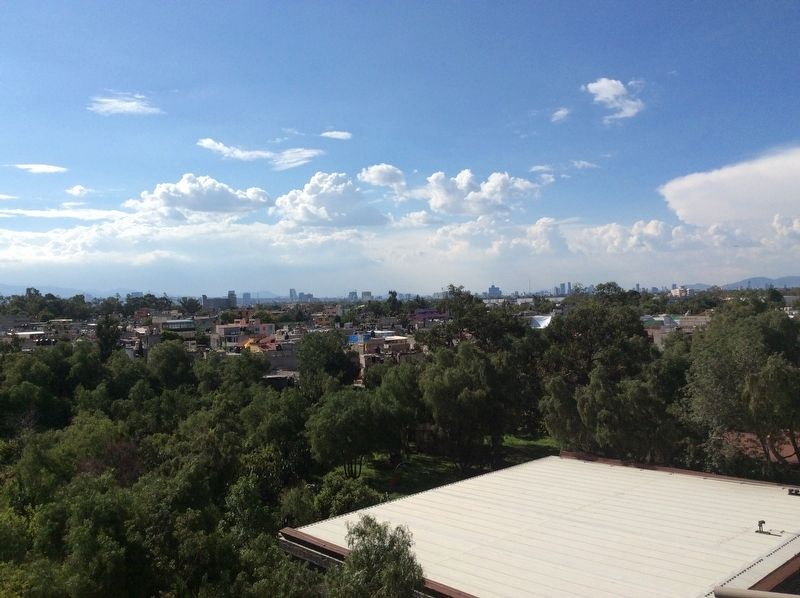 A view north of the Mexico City center from the top of the Anahuacalli Museum image. Click for full size.
