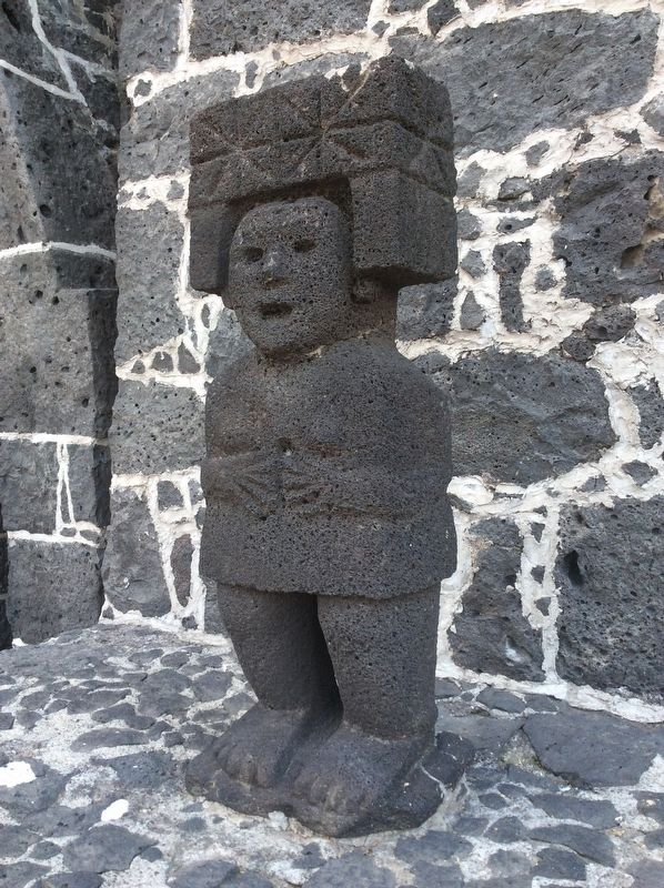 Pre-Hispanic sculpture at the Anahuacalli Museum image. Click for full size.